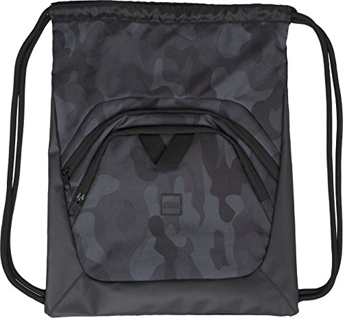 Urban Classics Ball Gym Bag Turnbeutel, 45 cm, Black/Dark Camo