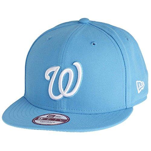 New Era 950 MLB League Basic Snapback Baseball Cap (Washington Nationals - Blue, Medium-Large 56.8cm - 61.5cm)