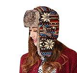 Baymate Unisex Weihnachten Winter Warmer Mütze Hut Ohrenklappe Fliegermützen Künstlich