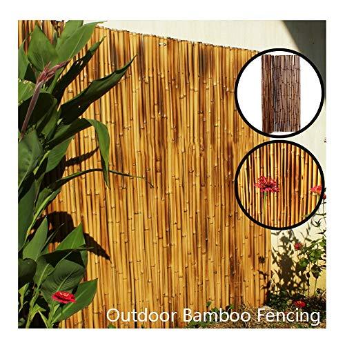 GDMING Valla De Bambú Pantalla De Privacidad del Balcón Protección contra El Viento/UV Al Aire Libre Jardín Decorativa Durable Parabrisas Anti-óxido Enlace De Alambre, 12 Tamaños