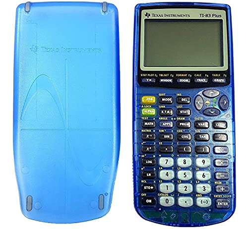 Clear Blue TI 83 Plus Graphing Calculator (Renewed)