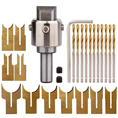 Broca para hacer cuentas de madera, 6 – 25 mm, juego de fresado de carburo fresadora de punta de bola para cuentas de madera, kit de herramientas de carpintería