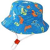XYIYI Kids Bucket Hat Adjustable Sun Hats Breathable Beach Hat for 1-2 Years Old Boys Girls (Light Blue Shark)