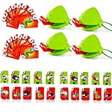 ALILILI Funny Family Game Interactive Toys,Tic Tac Tongue Catch Bugs Game, Lizard Tongue Eating Pest Game Novel Toys for Kids (2 Sets)