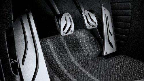 BMW Original Pedalauflagen LHD Edelstahl M Performance für 1er F20 F21 - Schaltung
