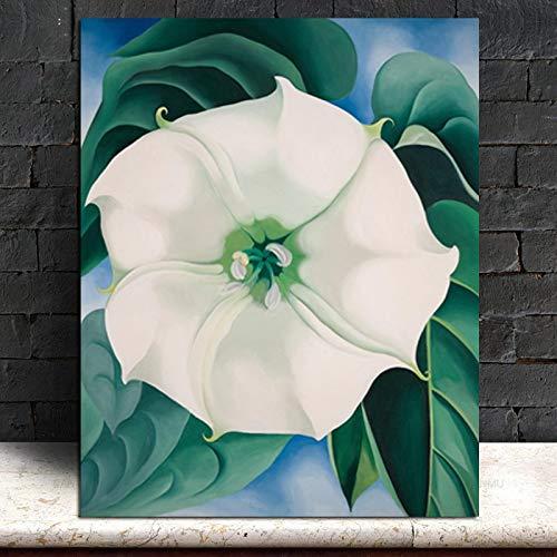 Impresiones en Lienzo ImágenesJimson Weed Georgia O'Keeffe 51X64cmCuadros De Pared para Sala De Estar