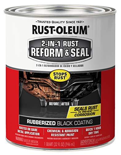 Rust-Oleum 344763 2-in-1 Rust Reform & Seal, 32 Fl Oz (Pack of 1), Black