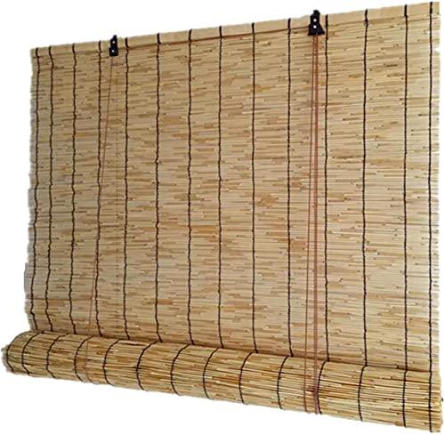 Partition Privacidad Bambú Roll Up Window Natural Retro Tejido Cortinas de Reed, Filtrado Luz Sombra Sombrilla de Bambú Persianas, Estudio Cortinas de paja de Decoración de Pared (140x180cm / 55x71in)