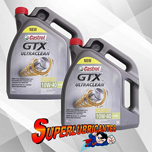 Mundocoche Castrol GTX ULTRACLEAN 10W40 A3/B4 2X5l(10Litros)