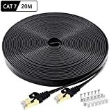 CAT 7 Ethernet Kabel 20m, BUSOHE Hochgeschwindigkeits - Gigabit RJ45 LAN Netzwerkkabel, 10Gbps...