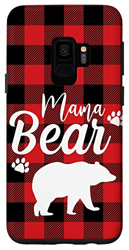 Galaxy S9 Cute Mama Bear Case Plaid Buffalo Mothers day Case