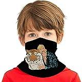 Tiger-King Joe Exo-Tic Kids Bandana Face Neck Headband Dust Protection Headwear Scarf for Boys Girls White