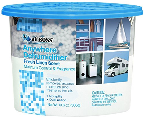 airBOSS Anywhere Dehumidifier Fresh Linen Scented (6) for Storage Closets and Small Spaces, Fights Mildew and Odors, Fragrance Free