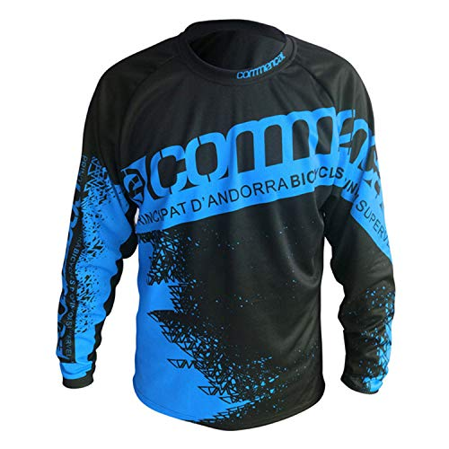 Camiseta de ciclismo de manga larga para hombre con tejido transpirable de secado rápido (C-11, XS)