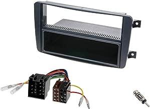 Audi OPro 32406A220–Radio Set de instalación Mercedes Clase C W203, CLK W209, Viano, Vito empotrable de marco compartimento de adaptador de radio adaptador de antena ISO DIN