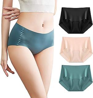catch-L Slip Femme Soie Glace été sans Couture Culotte Coton sans étiquette Bikini Taille Basse Respirant Dames Slips Culo...