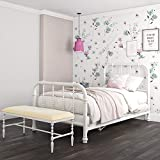 DHP Jenny Lind Metal Twin Bed Frame in White