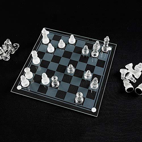 Juego De Ajedrez, Tableros De Ajedrez Acrílico Y Chess Pieces Glass, Juegos De Mesa Familia, Juego De Ajedrez, Schachspiel Glas,35 x 35 cm