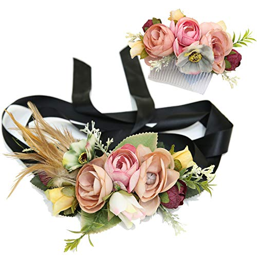 Ever Fairy moda flor cinturones de...