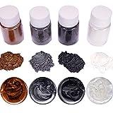 Epoxidharz Farbe 4pcs, Seifenfarbe Set Metallic Farbe Resin Farbe, Mica Powder Pigmente Pulver Für...