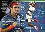 Motivierendes Poster mit Roger Federer #8 – Motivation