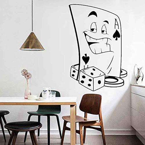 Wandaufkleber Papier Aufkleber , Persönlichkeit Spongebob Poker Spielkarten Kinderzimmer Hintergrund Dekorative Pvc Wandaufkleber,