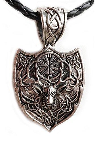 Spirit of Avalon Anhänger/Amulett Krafttier Hirsch mit Kette -Yoga Esoterik Spiritualität Astrologie Meditation Energie