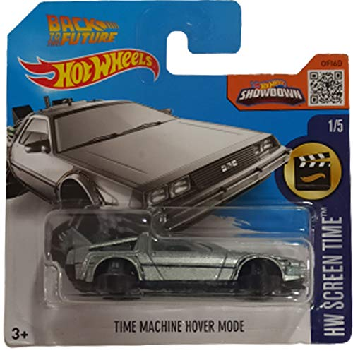 Hot Wheels Time Machine Hover Mode Back To The Future HW Screen Time 1/5 2016 (221/250) Short Card