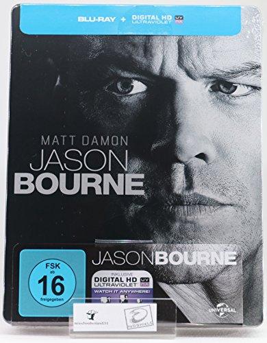Jason Bourne - Exklusiv Limited Steelbook Edition - Digital Code - Blu-ray