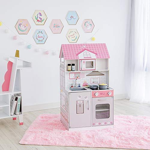 Teamson Kids 2 in 1 Casa delle Bambole E Cucina da Gioco per Bambini TD-12515P