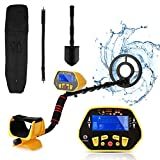 Metal Detector –Adjustable Metal Detector for Adult & Kids with 8.7' Waterproof Dual Coil, Lightweight Design Great for Treasure Hunting Beginners [6 Disc & All Metal & Pinpoint Modes]