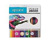 Apsara 101256003 Color Pencils - 26 Shades (Multicolor)