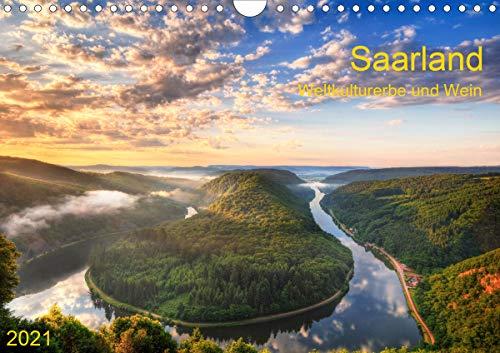 Saarland Weltkulturerbe und Wein (Wandkalender 2021 DIN A4 quer)