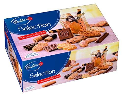 BAHLSEN Selection 8 x 250 g Gebäckmischung, vielfältige Großpackung aus Waffeln und Keksen, mit und ohne Schokolade, knusprige Variation von Kaffeegebäck