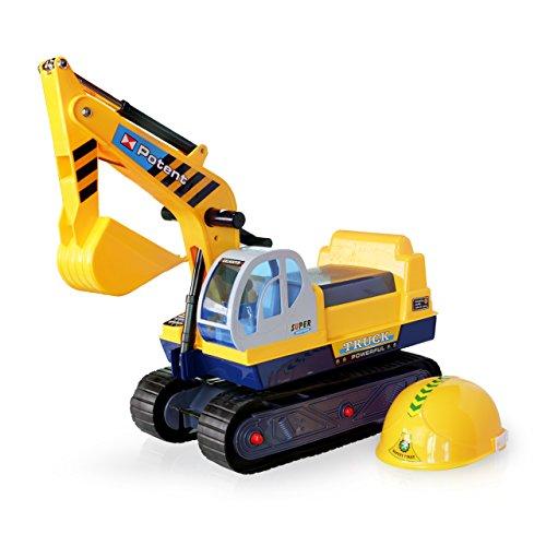 乗用玩具 足こぎ 乗用カー ショベルカー 足けり パワーショベル 働く車 黄