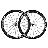 ICAN 50mm Carbon Road Bike Wheels 700C Clincher Sapim CX-Ray Spokes Rim Brake Only 1460g (Upgraded...