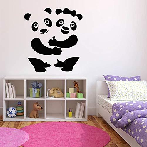 SLQUIET Niedlichen Panda Wandtattoo Große Tier Wandaufkleber Spaß Kinderzimmer Dekoration Wandkunst Wand Kinderhaus Und Garten Wandaufkleber 08 rot 34x30 cm