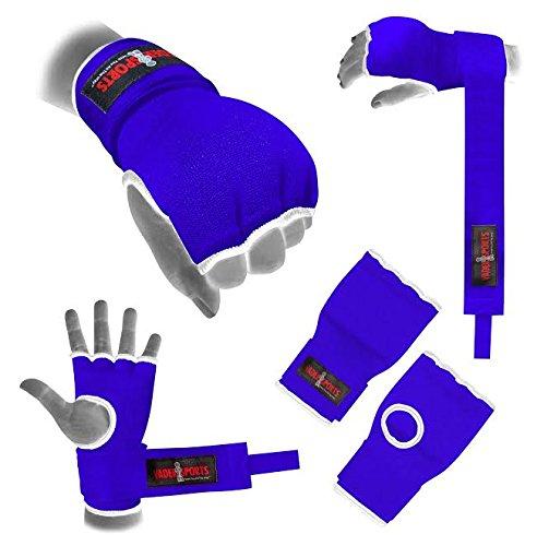 V.Sports Handbandage, schwarz, blau, rot, gepolsterte Handschuhe, Boxen, MMA, UFC, für Erwachsene, Kinder, 5-8 Jahre
