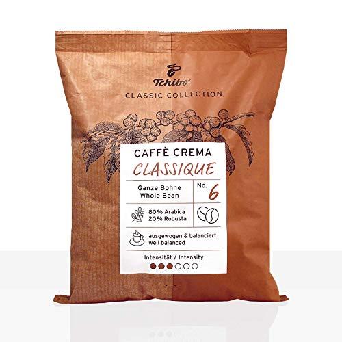 Tchibo Café Crème Classique Kaffee | Ganze Bohne | Hochwertiger Bohnenkaffee im 500g Beutel | Einzigartige Kaffeequalität von Tchibo | Ideal für Kaffeevollautomaten