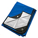 Arcturus Heavy Duty Survival Blanket – Insulated Thermal Reflective Tarp - 60' x 82'. All-Weather, Reusable Emergency Blanket for Car or Camping (Blue)