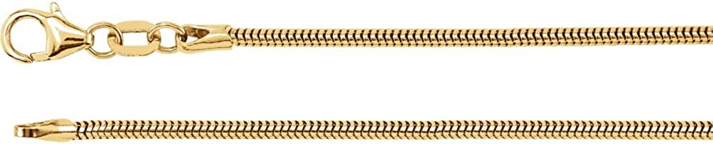 1.5mm Round Snake Chain Necklace Secure Lobster Clasp Closure
