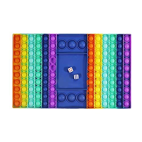 Tablero de ajedrez Pop It juego, Big Pop Fidget Toys, Juguete de tablero de ajedrez sensorial de doble jugador