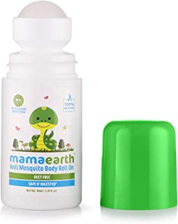 Mamaearth Natural Anti Mosquito Body Roll On 40ml. DEET Free. Protects from Dengue, Malaria & Chikungunya. (Pack of 1)