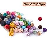 baby tete Crochet de madera cubrió la bola de la mezcla del color de los granos...