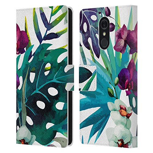 Head Hülle Designs Offizielle Haroulita Orchideen Blumen Mix Leder Brieftaschen Handyhülle Hülle Huelle kompatibel mit LG Q Stylus/Q Stylo 4