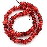 Perlmuttperlen, Muschelperlen, Rot, 10mm 40Stück Perlmutt Perlen Chipsform, für Kette, Armband, Schmuck P142