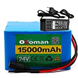 Batterie au lithium 24v 15ah 6S5P 25.2V vélos électriques batterie pack batteries pour vélo à moteur électrique avec BMS + chargeur