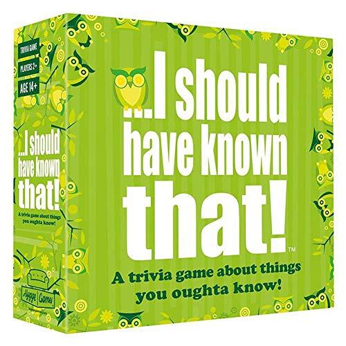 Tarjeta de juego en inglés completo - Debería haberlo sabido - Juego de cartas del partido, Juego de cartas del partido divertido Juego de cartas familiar Juego de mesa social