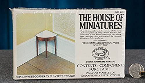 100% garantía genuina de contador The House of Miniatures Furniture - - - Heppleblanco Corner Table circa 1780-1800 by The House of Miniatures  garantizado