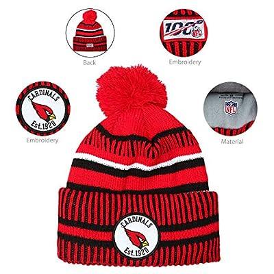 holly joll Football Team Embroidery Logo Adjustable Pom Knit Bonnie Hat Winter